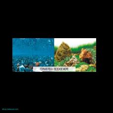 Фон плотный двухсторонний 011 Горная река/Зелёное море