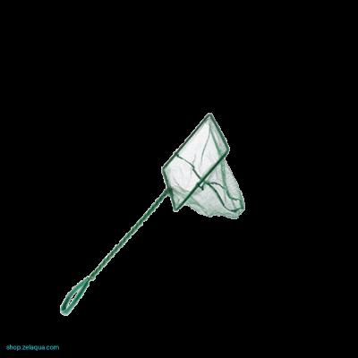 Аквариумный сачок с зеленой сеткой 7.5х6х25 см