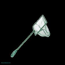 Аквариумный сачок с зеленой сеткой 10х7.5х25 см