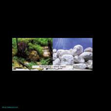 Фон плотный двухсторонний 010 Водный сад/Яркие камни