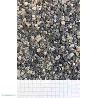 Грунт для аквариума ZelAqua (3кг)  - кварц серый  2-5 мм