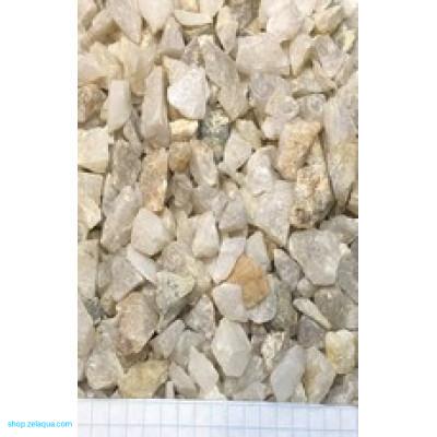 Грунт для аквариума ZelAqua (3кг)  - кварц дробленный 10-15 мм