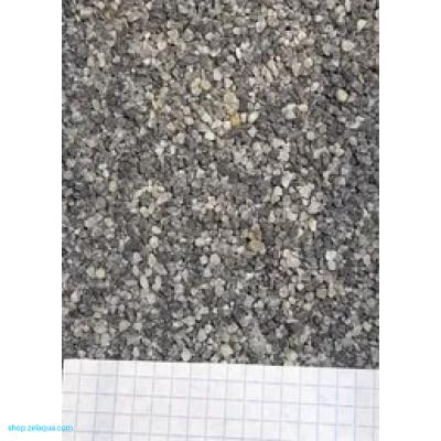 Грунт для аквариума ZelAqua (3кг)  - кварц серый 1-3 мм