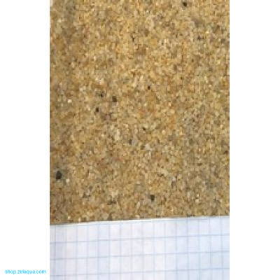 Грунт для аквариума ZelAqua (3кг) - кварц жёлтый окатанный 0,8-1,5 мм.