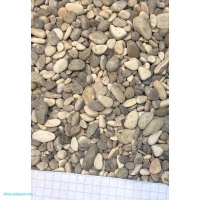 Грунт для аквариума ZelAqua (3кг)  - речной окатанный 2-5 мм